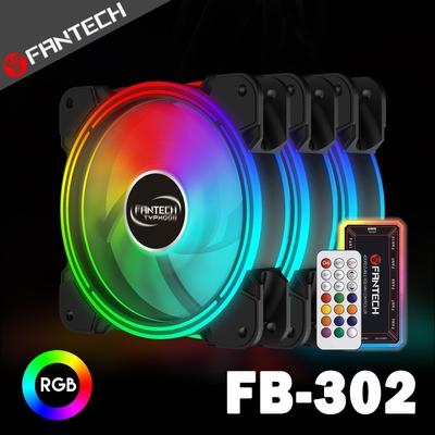 FANTECH 雙光圈遙控RGB燈效電腦風扇套組(FB-302)