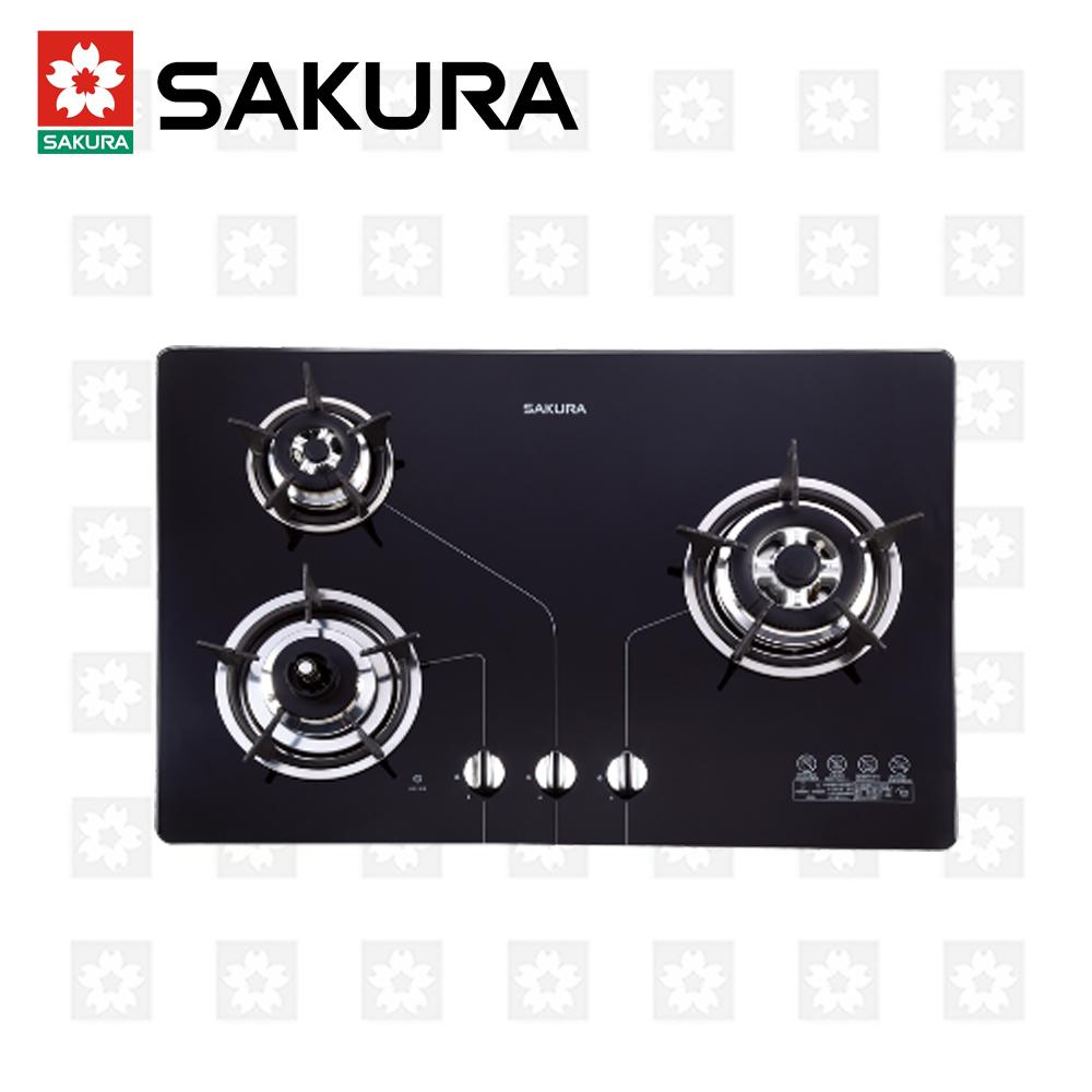 櫻花牌 SAKURA 三口防乾燒節能檯面爐 G-2830KG 桶裝瓦斯 限北北基配送