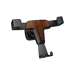 超質感車用重力木紋手機車架-T9