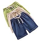 JoyNa兒童短褲 夏季竹節棉薄款睡褲棉麻短褲-3件入