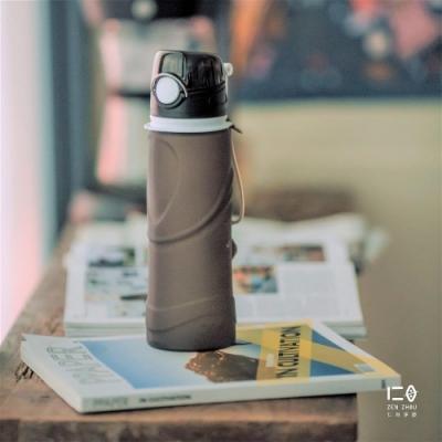 仁舟淨塑 捲捲矽水瓶750ml-夜空黑