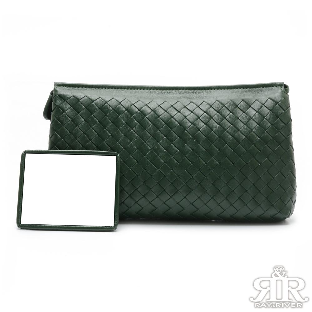 2R 頂級訂製NAPPA羊皮柔感單肩兩用包 墨綠