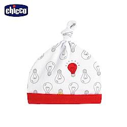 chicco-小燈泡-打結嬰兒帽-紅燈泡