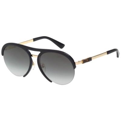 Moschino 飛官造型中性 太陽眼鏡(黑配金)