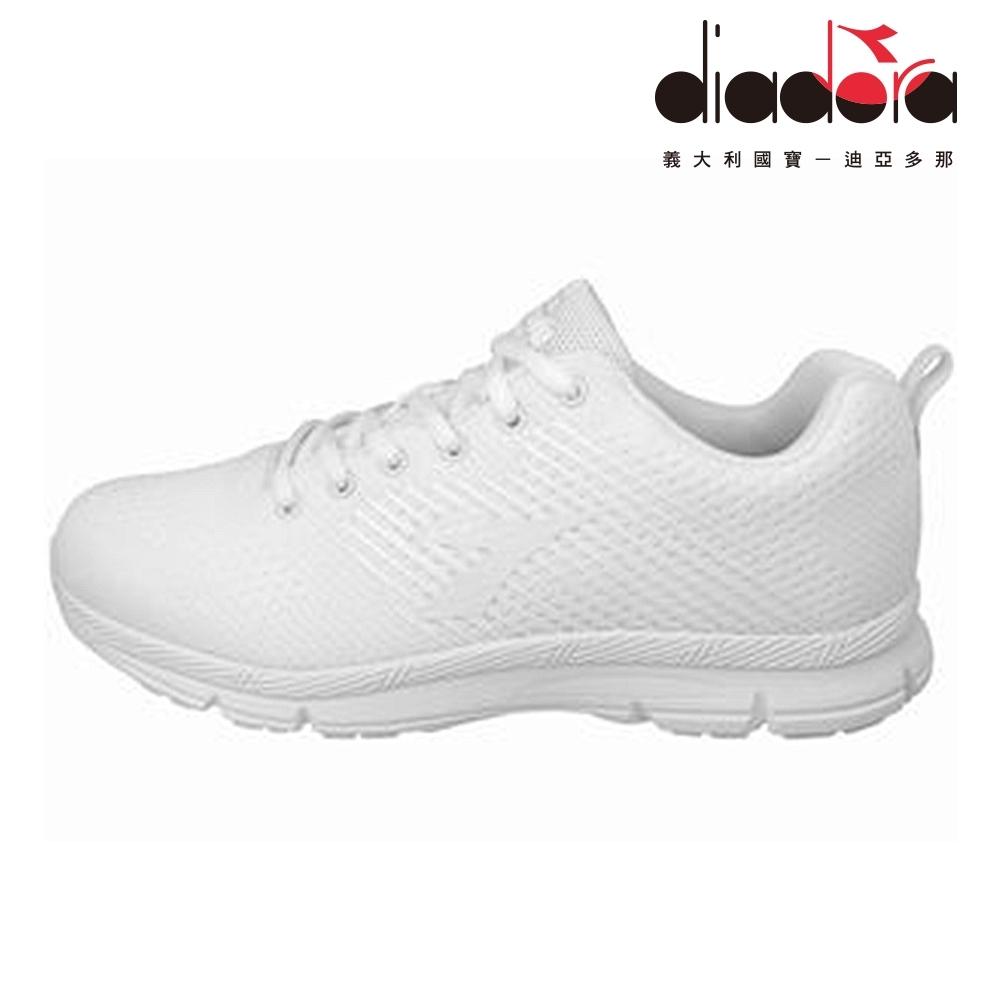Diadora 男飛織輕跑鞋 寬楦 白 DA8AMR6739