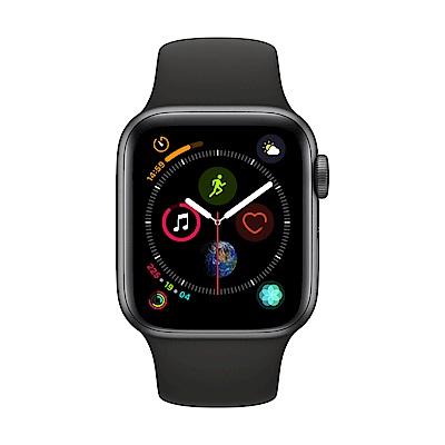 [無卡分期-12期] Apple Watch S4 GPS 40mm 灰色鋁錶殼搭黑色錶帶