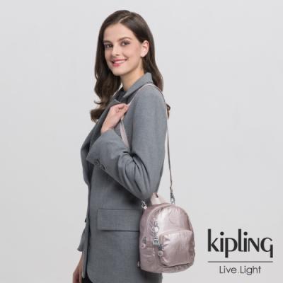 Kipling 優雅粉嫩紅兩用側背雙肩包-GLAYLA