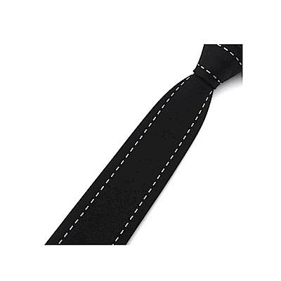 拉福   虛線窄版領帶拉鍊領帶 (5.8cm)