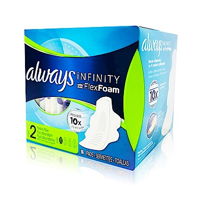 Always 液體衛生棉-未來感系列-一般日用27cm*16片/盒