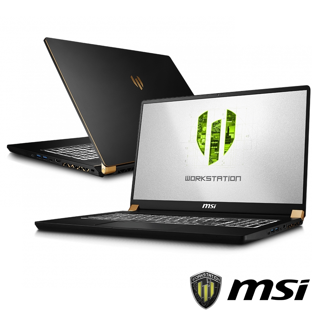 MSI微星 WS75-863 17吋繪圖筆電(i9-9880H/RTX3000/32G)