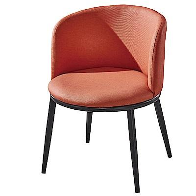 文創集 艾基時尚皮革造型餐椅組合(二入組+四色可選)-53x54x73cm免組