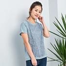 【白鵝buyer】 星星蕾絲造型棉上衣_藍