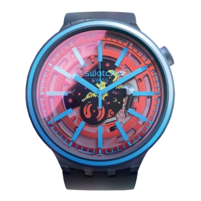 Swatch BIG BOLD光譜系列手錶 FIRE TASTE 亮彩橘-47mm