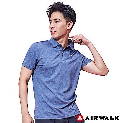 【AIRWALK】男款POLO衫-麻藍
