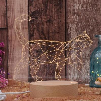 iSFun 立體雕刻 實木3D療癒造型夜燈- 貓咪