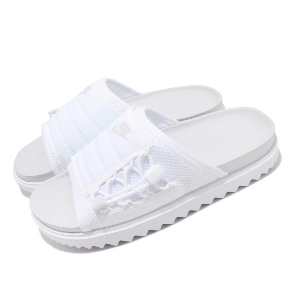 Nike 涼拖鞋 Asuna Slide 套腳 女鞋 夏日 輕便 舒適 簡約 穿搭 白 灰 CI8799002