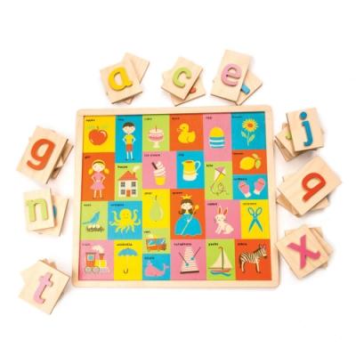 Tender Leaf Toys木製玩具-英文字母圖片學習拼圖