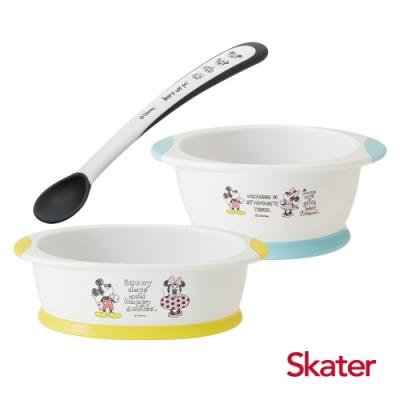 Skater幼童餐碗+深口盤+湯匙 (米奇)
