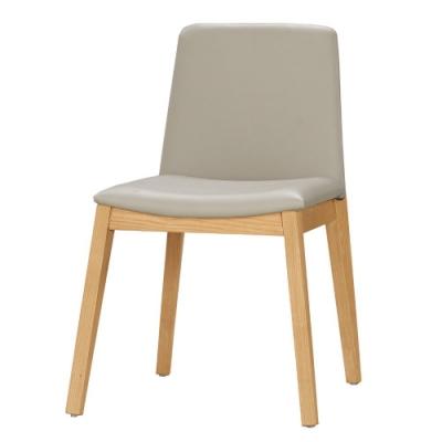 MUNA 卡瑞娜餐椅(皮)(實木)(1入) 47.5X56.5X80.5cm