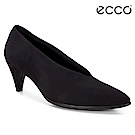 ECCO SHAPE 45 POINTY SLEEK 時尚V型尖頭高跟鞋 女-黑