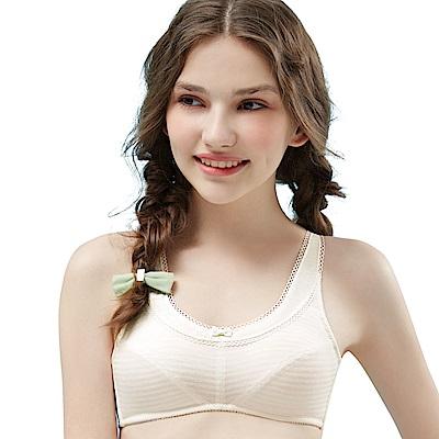 思薇爾 小冰冰純真風系列A-B罩無鋼圈背心型包覆內衣(奶油色)