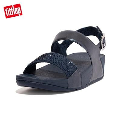【FitFlop】LULU CRYSTAL EMBELLISHED BACK-STRAP SANDALS 經典水鑽後帶涼鞋-女(午夜藍)