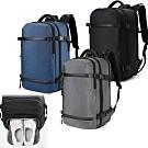 leaper USB充電大容量 三隔層多口袋商務旅行電腦後背包 共3色