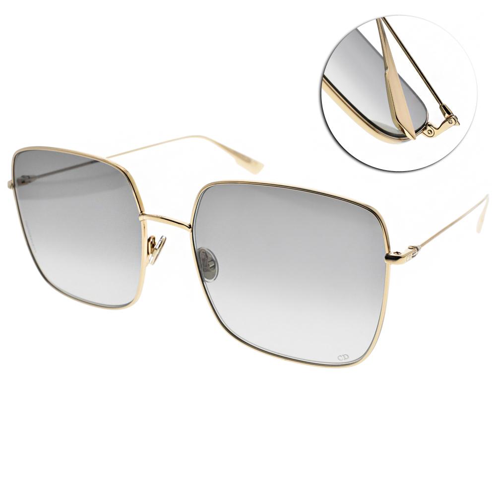 DIOR太陽眼鏡 熱銷方框款/金-漸層灰 #STELLAIRE1 0001I