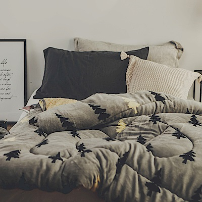絲薇諾 松樹林 MIT 羊羔法蘭絨被/單人-145×195cm