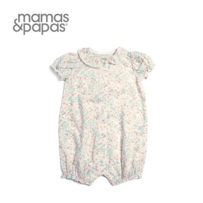 Mamas&Papas 野櫻畫布-小包袖連身寬褲