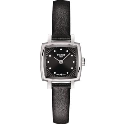 TISSOT 天梭 LOVELY SQUAREU 優雅時尚鑽錶(T0581091605600)