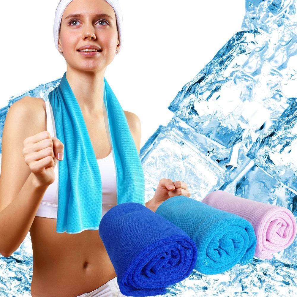 極速涼感-輕薄冰涼巾二條  88x35cm