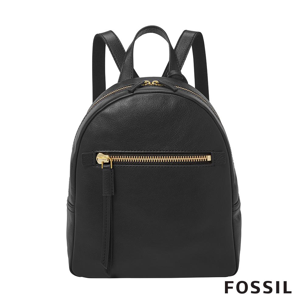 FOSSIL MEGAN 真皮小後背包-黑色 ZB7693001