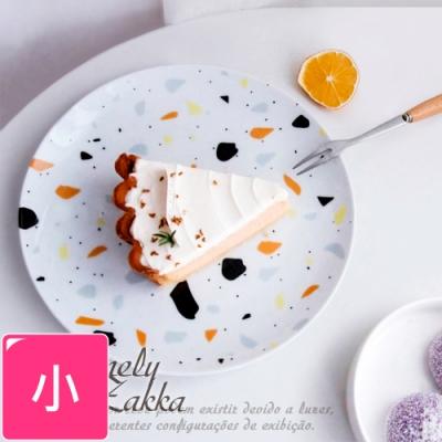 Homely Zakka 北歐ins小清新水磨石紋陶瓷餐具_小圓平盤
