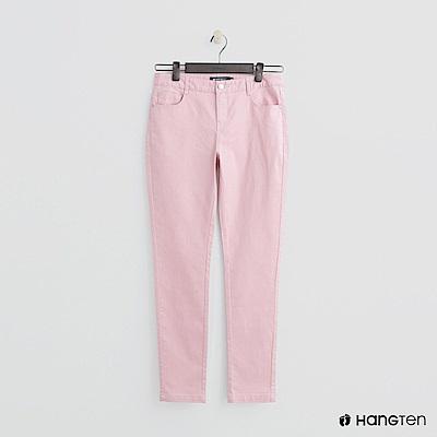 Hang Ten - 女裝 - 微彈合身純色長褲 - 粉
