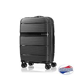 AT美國旅行者 20吋 Linex防刮耐衝擊硬殼TSA登機箱(黑)