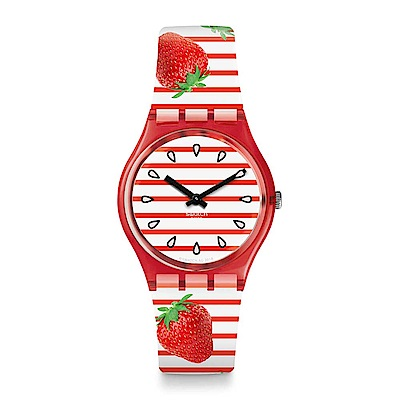 Swatch Energy Boost 系列 TOILE FRAISEE 草莓心情手錶