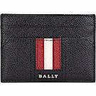 BALLY TACLIPO 經典紅白條紋黑色附錢夾/卡片夾