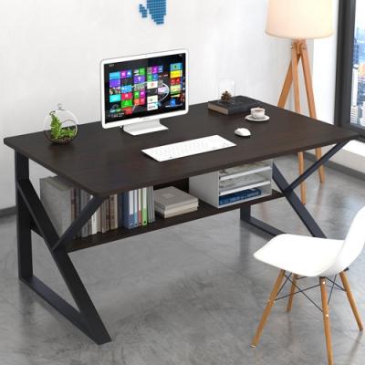 【Effect】極簡工業風K字型鋼架電腦桌(3色任選/120x70x72cm)