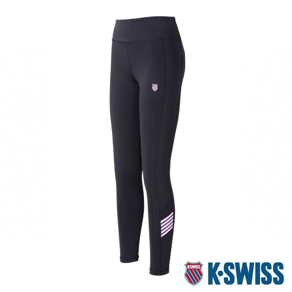 K-SWISS 5 Stripe Legging運動內搭褲-女-黑