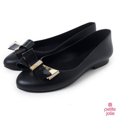 Petite Jolie--優雅蝴蝶結果凍娃娃鞋-黑色