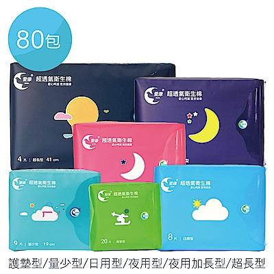 愛康 超透氣衛生棉 80包/組