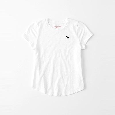 麋鹿 AF A&F 經典麋鹿標誌素面短袖T恤(女青年款)-白色
