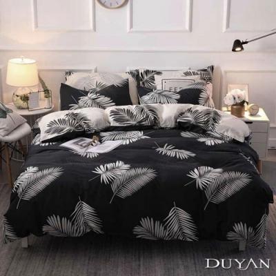 DUYAN竹漾 MIT 天絲絨-雙人加大床包兩用被套四件組-夜語森林