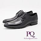 PQ 壓點車縫設計紳士質感防滑 男皮鞋-黑
