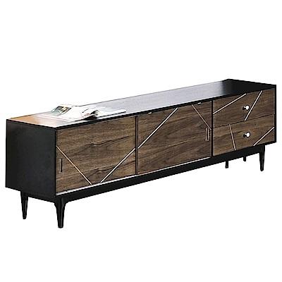 品家居 肯爾6.1尺木紋雙色長櫃/電視櫃-182x40x54cm免組