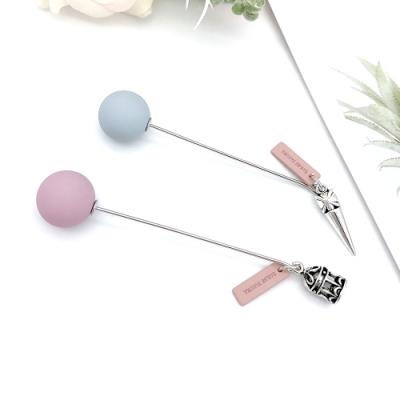 Hera 赫拉 防走光柳釘鳥籠配飾粉藍別針/胸針-2款