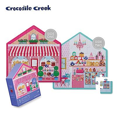 美國Crocodile Creek 童話小屋雙面學習拼圖-甜點小屋