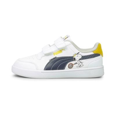 PUMA PEANUTS Shuffle V PS 中童 休閒鞋 白藍-37574001
