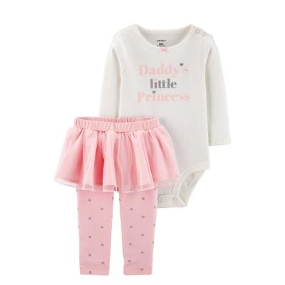 Carter's台灣總代理 小公主粉紅紗裙2件組套裝